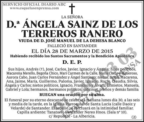 Ángela Sainz de los Terreros Ranero